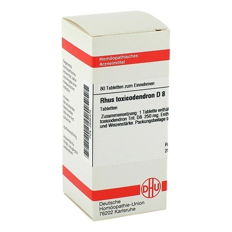 RHUS TOXICODENDRON D 8 Tabletten 80 Stück N1