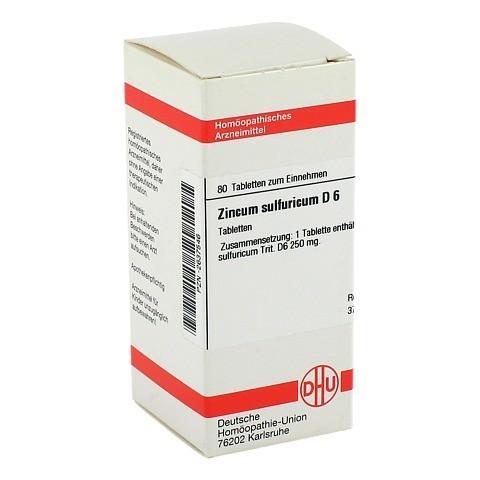 ZINCUM SULFURICUM D 6 Tabletten 80 Stück N1