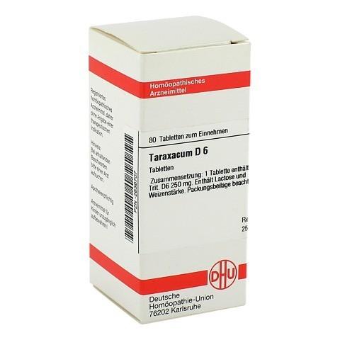 TARAXACUM D 6 Tabletten 80 Stück N1