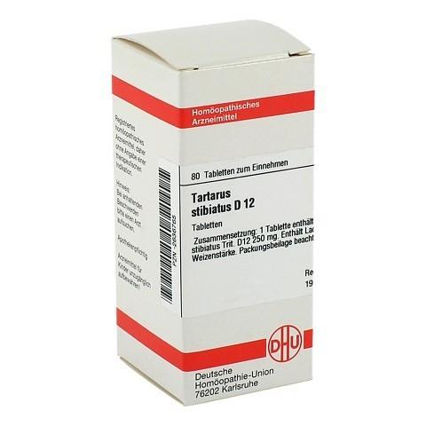 TARTARUS STIBIATUS D 12 Tabletten 80 Stück N1
