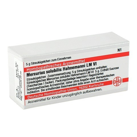 LM MERCURIUS solubilis Hahnemanni VI Globuli 5 Gramm N1