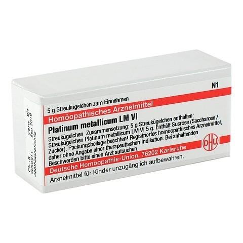 LM PLATINUM metallicum VI Globuli 5 Gramm N1