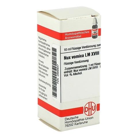 LM NUX vomica XVIII Dilution 10 Milliliter N1