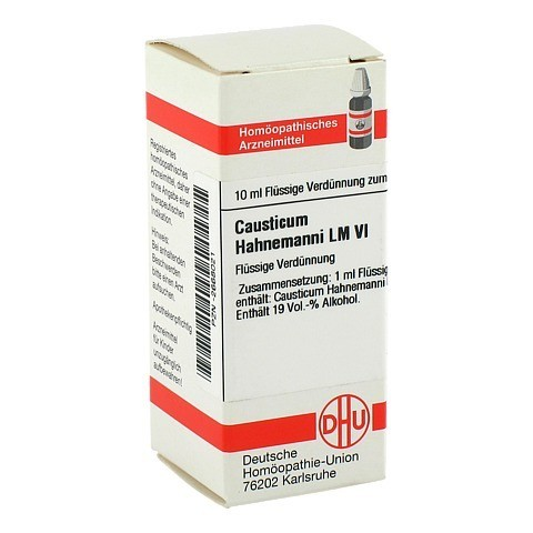 LM CAUSTICUM Hahnemanni VI Dilution 10 Milliliter N1