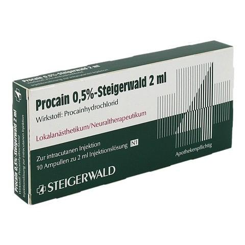 PROCAIN 0,5% Steigerwald Injektionslösung 10x2 Milliliter