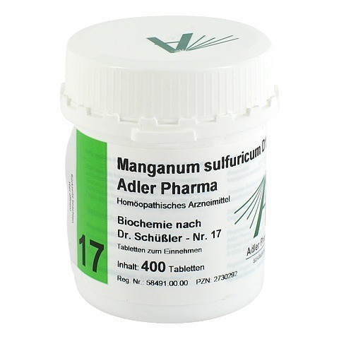 BIOCHEMIE Adler 17 Manganum sulfuricum D 12 Tabl. 400 Stück