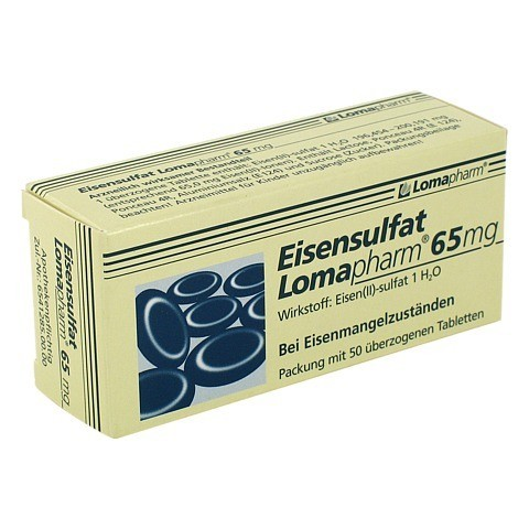 Eisensulfat Lomapharm 65mg 50 Stück N2