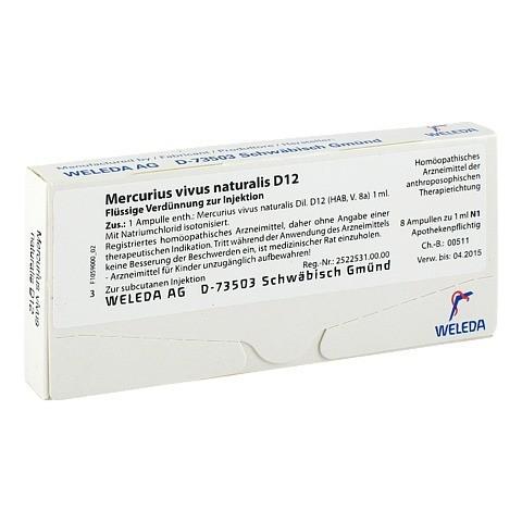 MERCURIUS VIVUS NATURALIS D 12 Ampullen 8x1 Milliliter N1