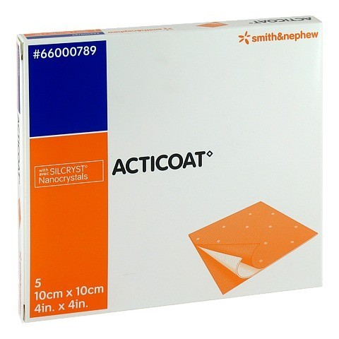 ACTICOAT 10x10 cm antimikrobielle Wundauflage 5 Stück