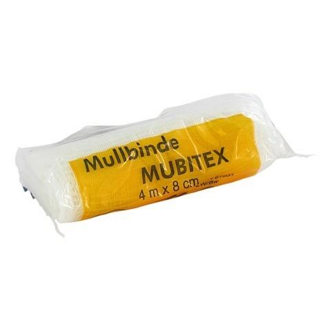 MUBITEX Mullbinden 8 cm einzeln in Cello 1 Stück