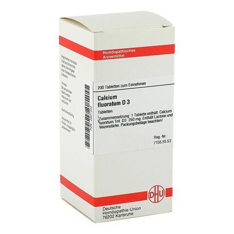 CALCIUM FLUORATUM D 3 Tabletten 200 Stück N2