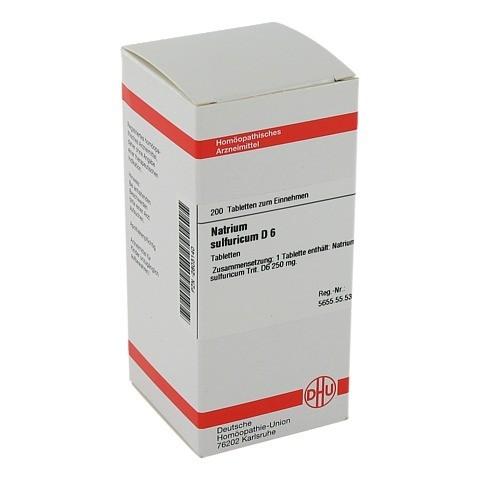 NATRIUM SULFURICUM D 6 Tabletten 200 Stück N2