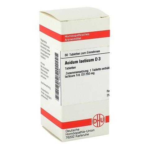 ACIDUM LACTICUM D 3 Tabletten 80 Stück N1
