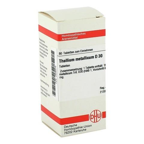 THALLIUM METALLICUM D 30 Tabletten 80 Stück