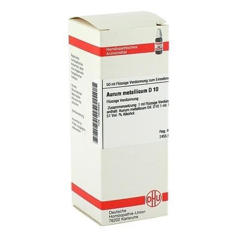 AURUM METALLICUM D 10 Dilution 50 Milliliter N1