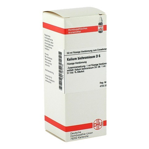 KALIUM BICHROMICUM D 6 Dilution 50 Milliliter N1