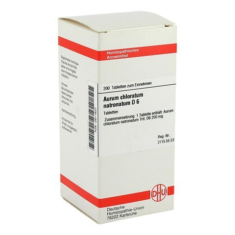 AURUM CHLORATUM NATRONATUM D 6 Tabletten 200 Stück N2
