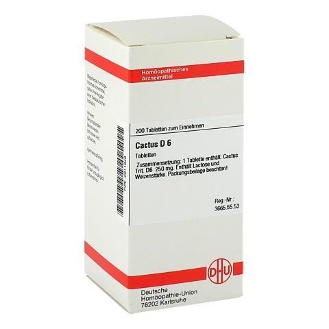 CACTUS D 6 Tabletten 200 Stück N2