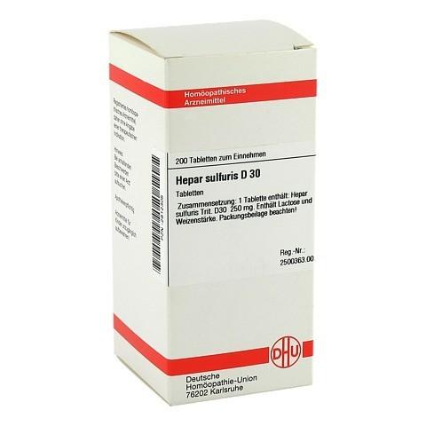 HEPAR SULFURIS D 30 Tabletten 200 Stück