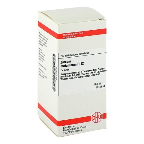 ZINCUM METALLICUM D 12 Tabletten 200 Stück N2