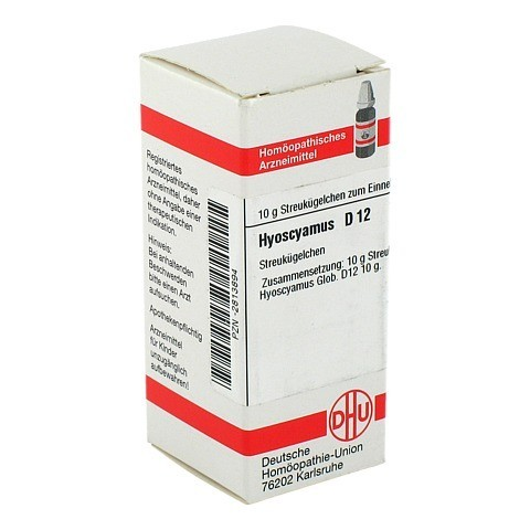 HYOSCYAMUS D 12 Globuli 10 Gramm N1