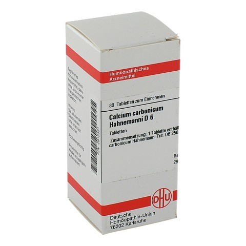 CALCIUM CARBONICUM Hahnemanni D 6 Tabletten 80 Stück N1
