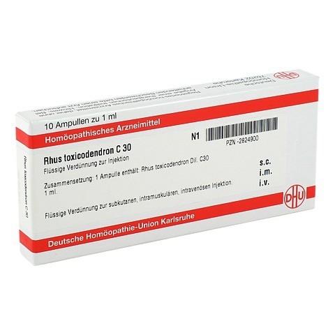RHUS TOXICODENDRON C 30 Ampullen 10x1 Milliliter N1