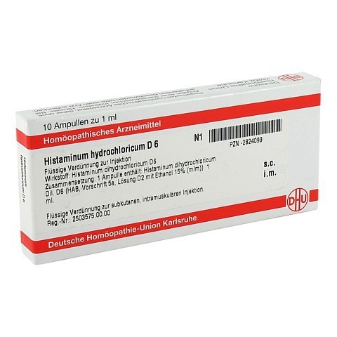 HISTAMINUM hydrochloricum D 6 Ampullen 10x1 Milliliter N1