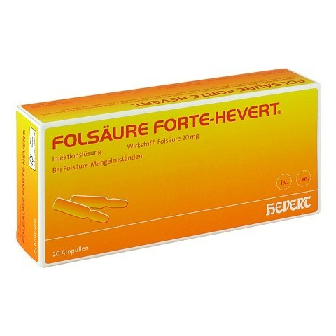 FOLSÄURE HEVERT forte Ampullen 20x2 Milliliter N3