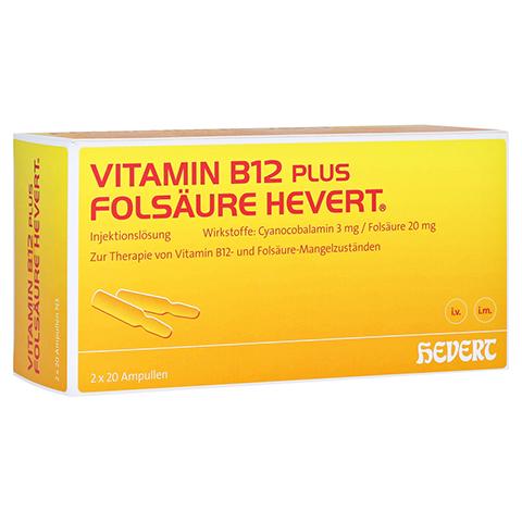 Vitamin B12 Folsäure Hevert Amp.-Paare 2x20 Stück N3
