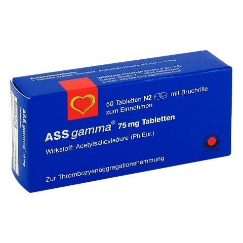 ASS gamma 75mg 50 Stück N2