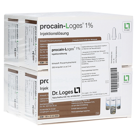 PROCAIN Loges 1% Injektionslösung Ampullen 200x2 Milliliter