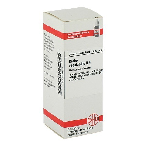 CARBO VEGETABILIS D 6 Dilution 20 Milliliter N1