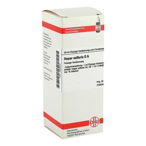 HEPAR SULFURIS D 6 Dilution 50 Milliliter N1
