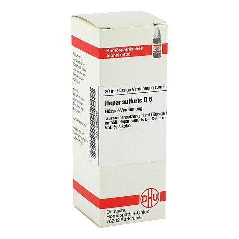 HEPAR SULFURIS D 6 Dilution 20 Milliliter N1