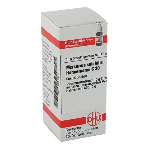 MERCURIUS SOLUBILIS Hahnemanni C 30 Globuli 10 Gramm N1