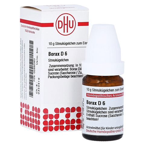 BORAX D 6 Globuli 10 Gramm N1