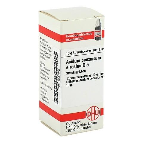 ACIDUM BENZOICUM e Resina D 6 Globuli 10 Gramm N1