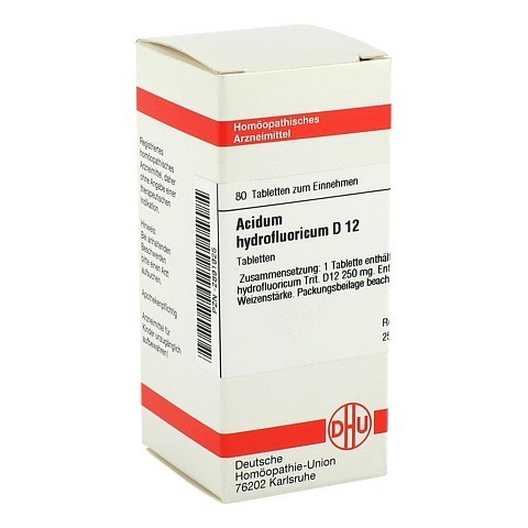 ACIDUM HYDROFLUORICUM D 12 Tabletten 80 Stück N1