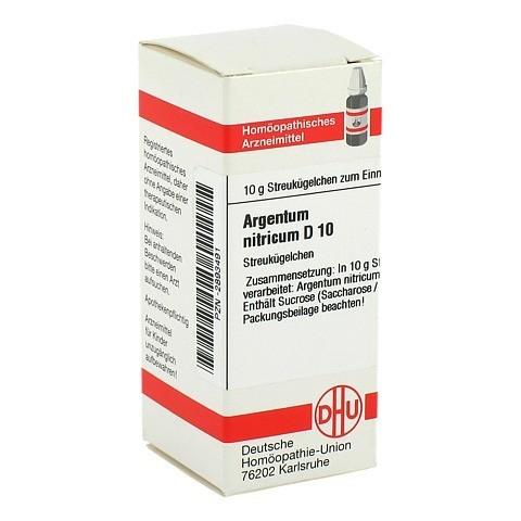 ARGENTUM NITRICUM D 10 Globuli 10 Gramm N1