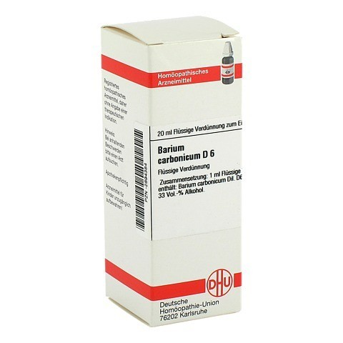 BARIUM CARBONICUM D 6 Dilution 20 Milliliter N1
