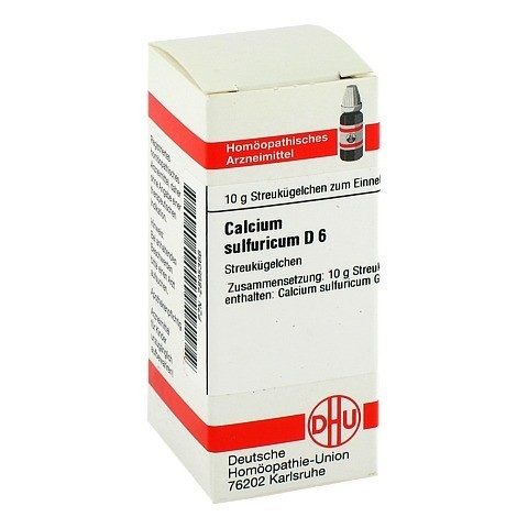 CALCIUM SULFURICUM D 6 Globuli 10 Gramm N1