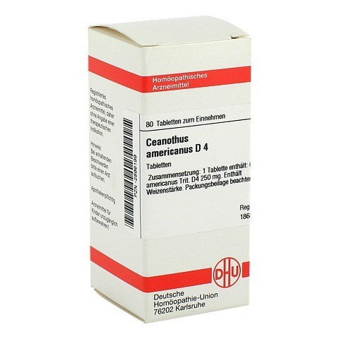 CEANOTHUS AMERICANUS D 4 Tabletten 80 Stück N1