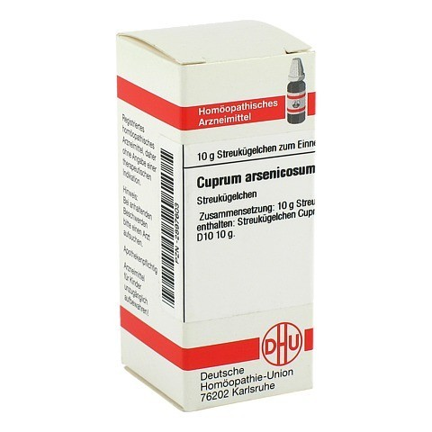 CUPRUM ARSENICOSUM D 10 Globuli 10 Gramm N1
