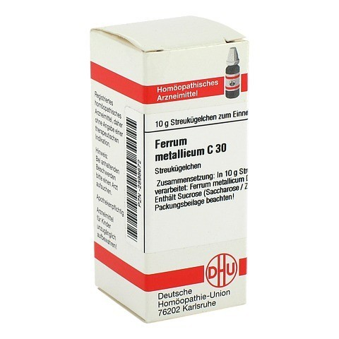 FERRUM METALLICUM C 30 Globuli 10 Gramm N1
