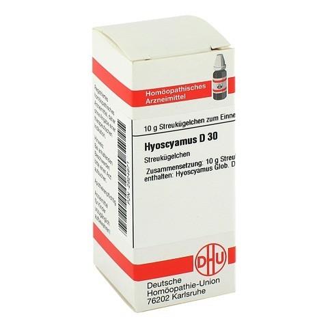 HYOSCYAMUS D 30 Globuli 10 Gramm N1