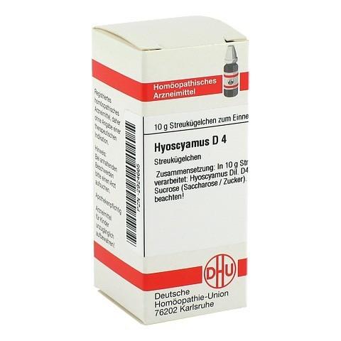 HYOSCYAMUS D 4 Globuli 10 Gramm N1