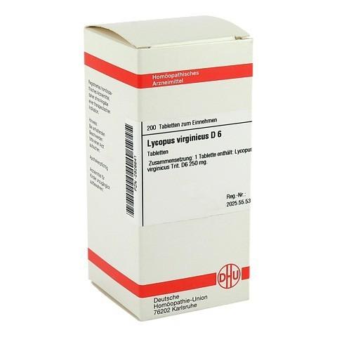 LYCOPUS VIRGINICUS D 6 Tabletten 200 Stück N2
