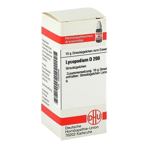 LYCOPODIUM D 200 Globuli 10 Gramm N1