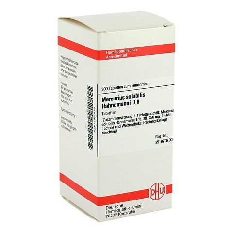 MERCURIUS SOLUBILIS Hahnemanni D 8 Tabletten 200 Stück N2